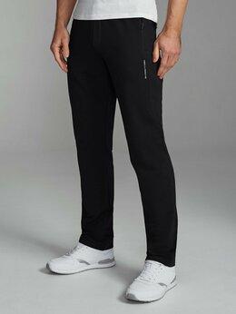 Брюки - Мужские спортивные брюки черные хлопковые (44-62), 0