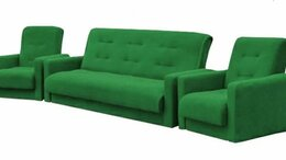 Диваны и кушетки - Комплект мягкой мебели Милан зелёный 💥 0182💥, 0