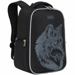 Рюкзаки - Рюкзак Grizzly, 26*36*17см, 2 отделения, 2 кармана, анатомическая спинка, черный, 0