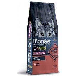 Корма  - Сухой корм Monge BWild Dog Low Grain Deer 12 кг, 0