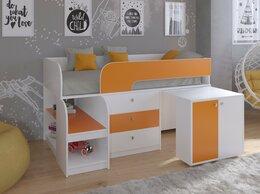 Кровати - Кровать чердак Астра 9/7 белый-оранжевый, 0