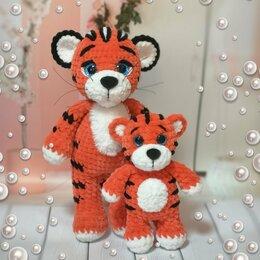 Мягкие игрушки - Тигрята вязаные , 0