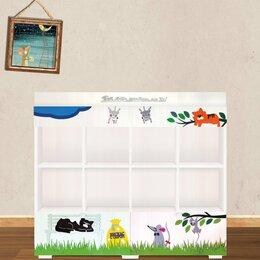 Стеллажи и этажерки - Детский стеллаж для книг и игрушек дизайнерский, 0