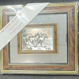 "Картины, постеры, гобелены, панно - Панно ""Табун лошадей"" , 0"