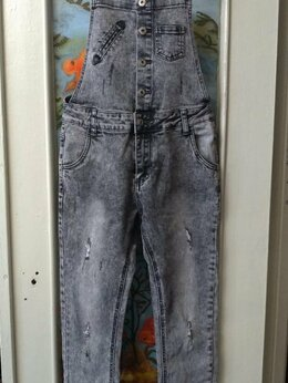 Джинсы - Комбинезон джинсовый, 0