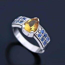 Кольца и перстни - 🎀 Кольцо серебряное с цитрином и фианитами новое, 0