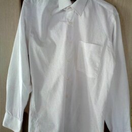 Рубашки - Мужская рубашка (белая), размер 48-50 (L), 0