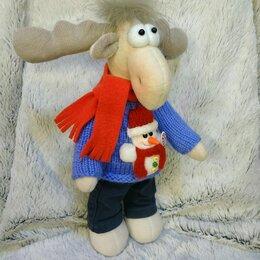 Новогодний декор и аксессуары - Интерьерная игрушка Новогодний рождественский Лось, 0