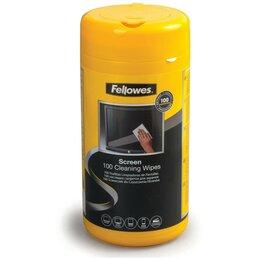 Чистящие принадлежности - Салфетки влажные для экранов и оптики Fellowes 100, 0