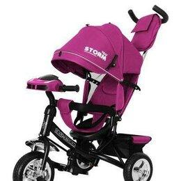 Трехколесные велосипеды - Трехколесный велосипед детский Tilly Storm розовый, 0