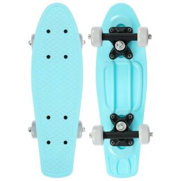 Скейтборды и лонгборды - Пенниборд 42 х 12 см, цв. голубой, 0