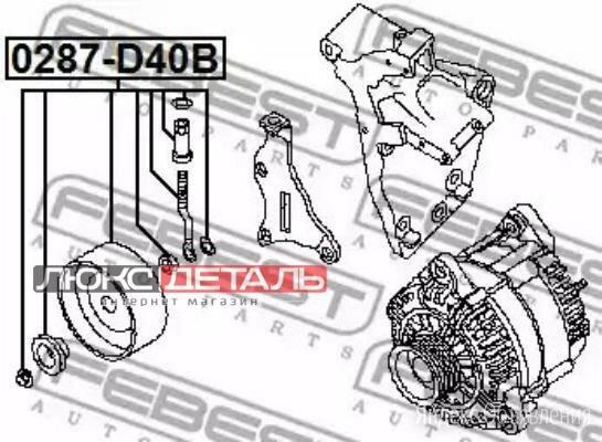 FEBEST 0287D40B Ролик натяжной комплект  по цене 1283₽ - Двигатель и комплектующие, фото 0