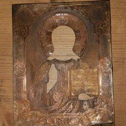 Иконы - Оклад Господь Вседержитель. Клеймо. Мастер П. Абросимов. 19 век. , 0