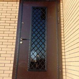 Входные двери - Дверь входная ФРАНЦУЗСКАЯ РЕШЕТКА остеклённая с ковкой , 0