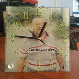 Часы настольные и каминные - Фоторамка-часы квадратные 20*20*0,5 см, полная запечатка, 0