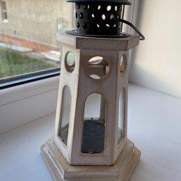Ночники и декоративные светильники -  деревянный фонарь подсвечник, 0