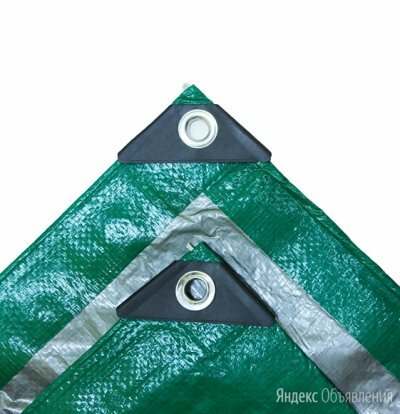 Тент тарпаулин 120г/м2 (усиленный край) (6x8м) по цене 2256₽ - Тенты строительные, фото 0