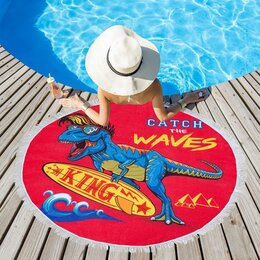 Туалетная бумага и полотенца - Полотенце пляжное Этель 'Поймай волну', d 150см, 0