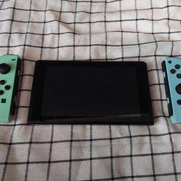 Игровые приставки - Nintendo switch animal crossing edition + игры, 0