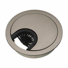 Электроустановочные изделия - Розетка под кабель метал Никель d=60мм, 0