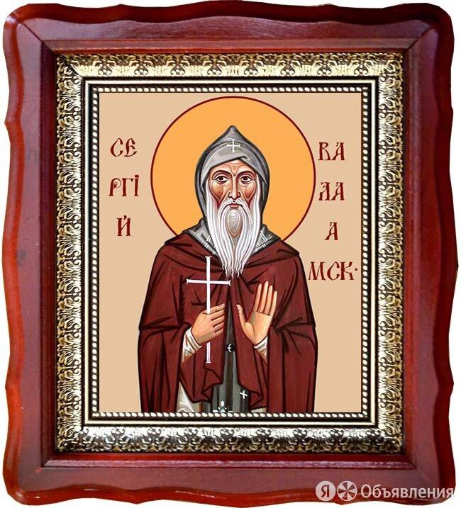 Сергий Валаамский преподобный. Икона на холсте. по цене 4090₽ - Картины, постеры, гобелены, панно, фото 0