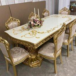 Столы и столики - Стол Маркиза белый/золото, 0