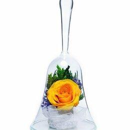 """Цветы, букеты, композиции - Композиция """"Колокольчик"""" из натуральных роз Н=14,5 см, 0"""