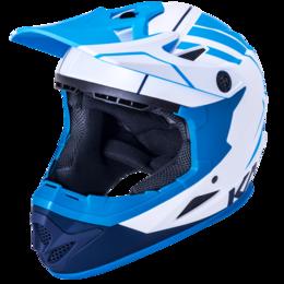 Спортивная защита - Шлем Full Face DH/BMX KALI Zoka, 6 отверстий, Mat Wht/Blu/Nvy (белый-синий-гол, 0