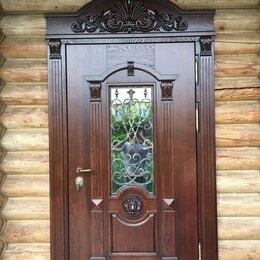 Входные двери - Филёнчатые двери входные в частном доме, 0