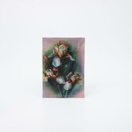 Обложки для документов - Обложка для проездного, цвет розовый, «Ирис белый», 0