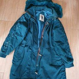 Куртки и пуховики - Куртка зимняя капюшон для девочки рост 146, 0