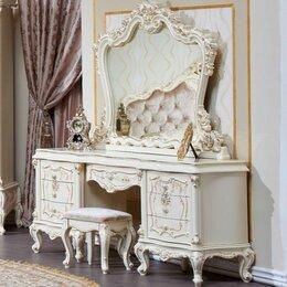 """Столы и столики - Туалетный стол с зеркалом и пуфом """"Шанель"""", 0"""