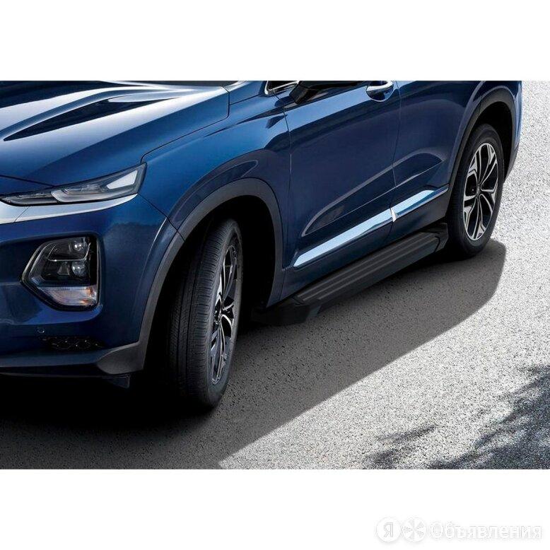 Порог-площадка «Black» на Hyundai Santa Fe 2018-3000 F180ALB.2307.1 по цене 12650₽ - Кузовные запчасти, фото 0