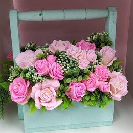 Цветы, букеты, композиции - Интерьерная цветочная композиция из роз , 0
