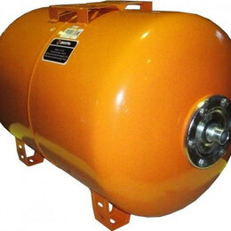 Расширительные баки и комплектующие - Гидроаккумулятор ВИХРЬ ГА-100 горизонтальный [68/6/3], 0