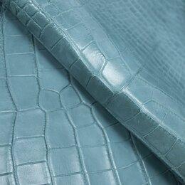 Рукоделие, поделки и сопутствующие товары - Целая шкура крокодила цвет лазурь, 0