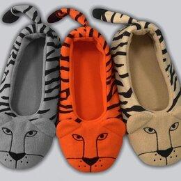 """Домашняя обувь - Детские тапочки-балетки """"Тигры"""", 0"""
