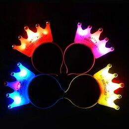 Украшения для девочек - Игрушка Ободок корона Happy Birthday светится 16x2, 0