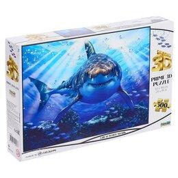 Пазлы - 3D Пазл 500 элементов «Большая белая акула», 0