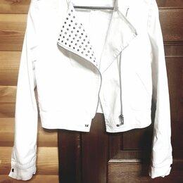 Куртки - Джинсовая косуха белого цвета, 0
