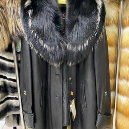 Дубленки - Новая кожаная дубленка 44-46, 0