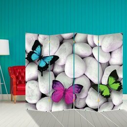 "Ширмы - Ширма ""Бабочка. декор 13"", двухсторонняя, 200 × 160 см, 0"