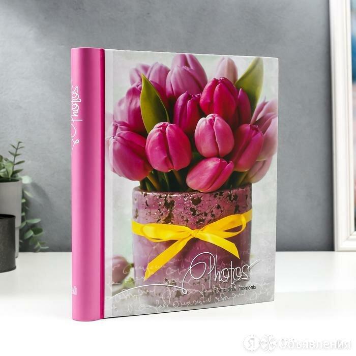 Фотоальбом магнитный 30 листов 'Тюльпаны' по цене 899₽ - Сувениры, фото 0
