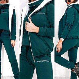 Спортивные костюмы - Женский тёплый спортивный костюм 3-ка р-ры 44-56, 0