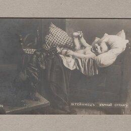 Открытки - Открытка дореволюционная царская Штейнмец Верный страж собака ребенок радость, 0