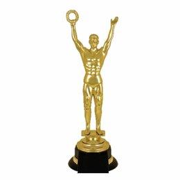 Украшения на тело - Приз «Оскар» пластиковый (100х100х305 мм), основание пластик черный, «золото», 2, 0