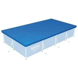 Тенты и подстилки - Тент для прямоугольных каркасных бассейнов 410 х 226 см, 58107 Bestway, 0