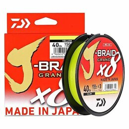 Леска и шнуры - Рыболовный шнур Daiwa J-Braid Grand x8 Yellow (135 м.), 0