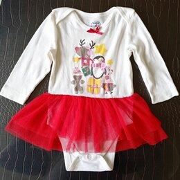 Платья и юбки - Новогодний Санта боди для девочки 3-6 мес. ш, 0
