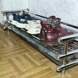 Сушилки и формодержатели - Подставка для обуви из хромированных труб с электросушилкой, 0